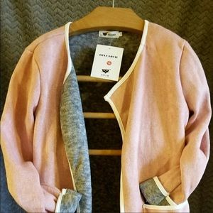 🌸Pink and Gray HELCARCII Sweater, Cardigan Style
